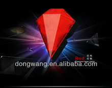 2012 New design high quality diamond bicycle laser tail light