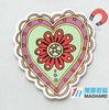 promotion item custom size heart-shaped paper fridge magnet