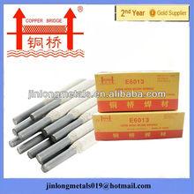 Less smoke Copper Bridge brand 3mm welding electrode j421 specification