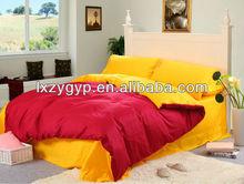 double side solid color bedding set/bed linens/bed sheet