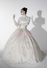 long sleeve lace wedding dresses muslim bride dress