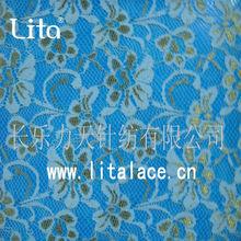 Lita elastic lace fabric M1021 golden