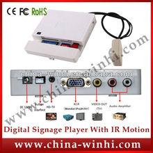 plastic shell portable Factory sell motion sensor USB SD CF card VGA media player