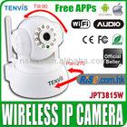 Wireless Pan Tilt WIFI Audio Webcam CCTV iPhone Android Tenvis JPT3815W IP Camera