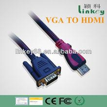 Hot Seller Black HDMI to VGA Cable Audio Converter