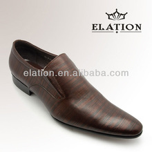 Stylish Emboss Elastic Guesset Shoes For Business and Party