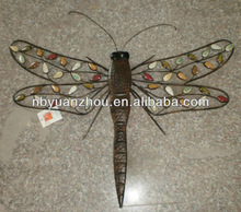 New vintage metal dragonfly wall arts ningbo yuanzhou