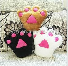 Cute Plush Toy Glove in Bear Claw Design