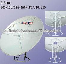 1.8m prime focus satellite dish antenna