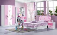 8812A promotional girls children furniture sets, bedroom sets children