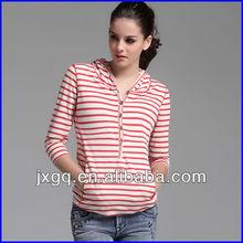 60% cotton 40% polyester fashion design yarn dyed women zip custom hoodies
