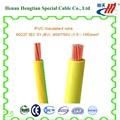 Cable sólo núcleo construcción cableado, pvc cableado eléctrico cable 4mm2
