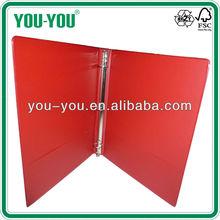 leather ring binder portfolio/plastic file binder/handmade paper file folder