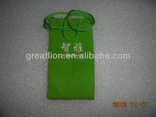 Drawstring Velvet Bag For Gift,light-green color