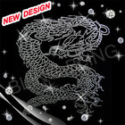 hotfix motif dragon rhinestone transfer iron on