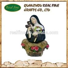 Polyresin Religious Figurine,Resin Buddha Figurine With Cross Fountain