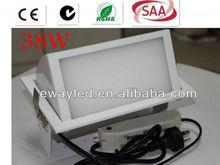 led rectangular panel spot lighter 38W + directly replace 70-150W mental halide
