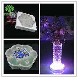 wholesale 7 colors led wedding decoration vase base