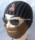 2013 new design Crochet Beard beanie