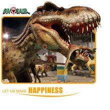 outdoor art display dinosaur