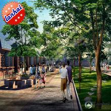 3D Rendering City Park Design