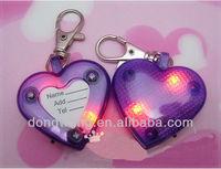 2013 Modern plastic love shape pet dog tags LED lights