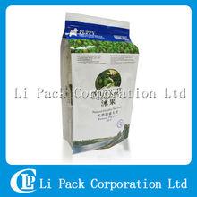 Resealable Flat Bottom Plastic Bag For Pet Food Packaging