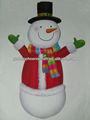 Papel impreso articulado figura decoración, Negro sombrero de muñeco de nieve decoración de los recortes