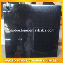 Haobo Stone absolute black granite slab and tiles, Cheap Granite Slab/tile