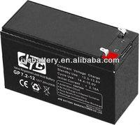 Standard accumulator battery 12v for security system