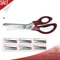 La mejor calidad 9.5 pulgadas tijeras de sastre/tijeras dentadas para el corte de tela