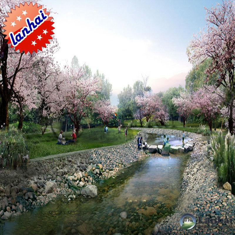 Magnificent il fiume piccolo giardino paesaggistico design 3d rendering 800 x 800 · 171 kB · jpeg
