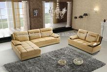 Wooden sofa set designs dubai leather sofa furniture F803#