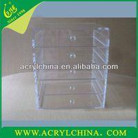 2013 Acrylic Transparent Drawer Organizer Case/Cosmetic Case