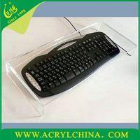 Clear Acrylic keyboard tray acrylic keyboard Display acrylic tray display