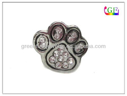 small paw print pin pet brooch jewelry with rhinestone