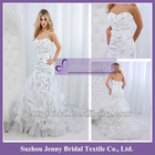 PB077 New style white and ivory beading mermaid fat woman Suzhou wedding dress 2013