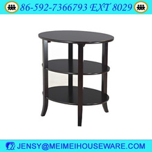 3 Tier Oval End wooden cherry Table