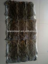 high quality natural straw rabbit fur skin