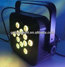 2012 new design!!! 12x10w RGBW 4-in-1 LED flat par can