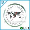 24 horas aliminum relógio de parede sweep movimento