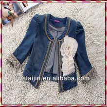 Cool design ladies elegant denim jacket