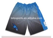 custom sublimation mens basketball short black