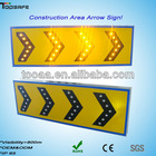 LED Solar Dangerous Bend Direction Plate Traffic Sign