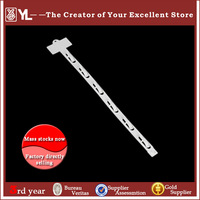 Guangzhou factoty retail high quelity Clear plastic display hanging clip strip