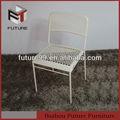 Extérieur chaise en plastique blanc de jardin pas cher/moderne chaise en plastique avec pieds en métal/moderne, empilable chaise en plastique