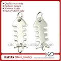 xd p304 925 de plata de ley de hueso de pescado pendiente conectores accesorios para la fabricación de pendientes