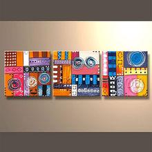 Modern high quality handmade music velvet oil paintings