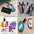 2013 Hot Sale Custom Full Color Printed Promotional 1GB-64GB Bulk Price Card USB Flash Drive