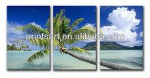 3 Sets beautiful landscape art print on canvas
